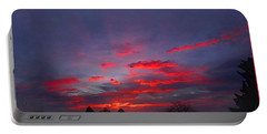 Sunrise Abstract, Red Oklahoma Morning Portable Battery Charger