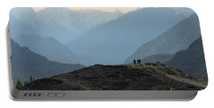 Sunrise Among The Karakoram Mountains In Hunza Valley Pakistan Portable Battery Charger