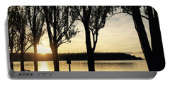 Sunrise And Silhouettes  Portable Battery Charger