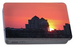 Portable Battery Charger featuring the photograph Sunrise At 17th St by Robert Banach