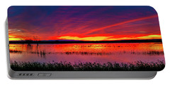 Sunrise At Bosque Del Apache Portable Battery Charger by Kristal Kraft