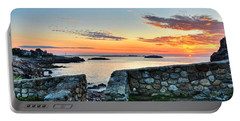 Sunrise At Castle Rock Marblehead Ma Portable Battery Charger