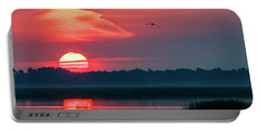 Sunrise At Cheyenne Bottoms 03 Portable Battery Charger
