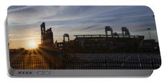 Sunrise At Citizens Bank Park - Philidelphia Portable Battery Charger
