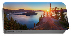 Sunrise At Crater Lake Portable Battery Charger