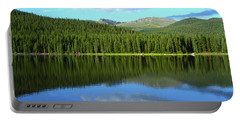 Portable Battery Charger featuring the photograph Sunrise At Echo Lake by Marie Leslie