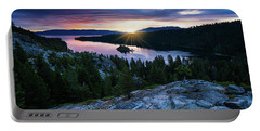 Sunrise Over Emerald Bay In Lake Tahoe Portable Battery Charger