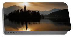 Sunrise At Lake Bled Portable Battery Charger