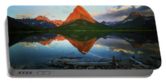 Sunrise At Many Glaciers Portable Battery Charger