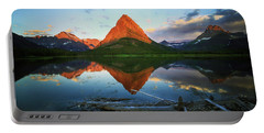Sunrise At Many Glaciers Portable Battery Charger by Craig J Satterlee