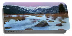 Sunrise At Rocky Mountain National Park Portable Battery Charger