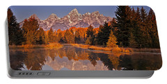 Sunrise At Schwabacher Landing  Portable Battery Charger by Sam Antonio Photography