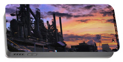 Portable Battery Charger featuring the photograph Sunrise At Steelstacks by DJ Florek