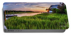 Sunrise At The Boat Ramp Portable Battery Charger