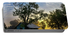 Portable Battery Charger featuring the photograph Sunrise At The Farm by George Randy Bass