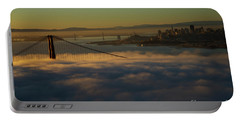 Portable Battery Charger featuring the photograph Sunrise At The Golden Gate by David Bearden