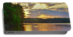Sunrise At The Landing Portable Battery Charger