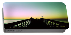 Sunrise At The Myrtle Beach State Park Pier In South Carolina Us Portable Battery Charger by Vizual Studio