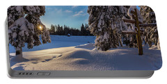 sunrise at the Oderteich, Harz Portable Battery Charger