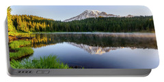 Mount Rainier Viewed From Reflection Lake Portable Battery Charger