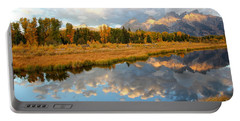 Sunrise On The Grand Tetons Portable Battery Charger