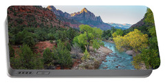 Sunrise At The Watchman - Zion National Park - Utah Portable Battery Charger