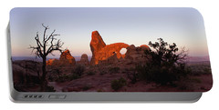 Sunrise At Tower Arch Portable Battery Charger