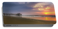 Sunrise At Tybee Island Pier Portable Battery Charger