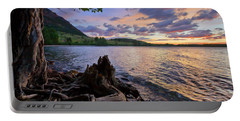 Portable Battery Charger featuring the photograph Sunrise At Waterton Lakes by Dan Jurak