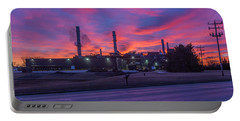 Sunrise At Waupaca Foundry Plants 2 And 3 3-24-2018 Portable Battery Charger