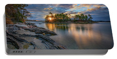 Portable Battery Charger featuring the photograph Sunrise At Wolfe's Neck Woods by Rick Berk