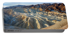 Sunrise At Zabriskie Point Portable Battery Charger