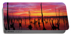 Sunrise Awaits Portable Battery Charger by Roger Becker