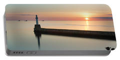 Sunrise Behind South Breakwater Portable Battery Charger