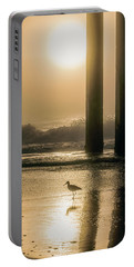Portable Battery Charger featuring the photograph Sunrise Bird At Beach  by John McGraw