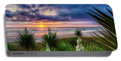 Sunrise Blooms Portable Battery Charger