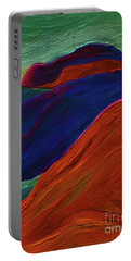 Portable Battery Charger featuring the painting Sunrise Castle 2  by First Star Art