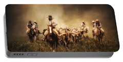 Sunrise Cattle Drive Portable Battery Charger