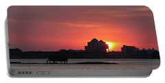 Sunrise Circles The Water Tower Portable Battery Charger by Robert Banach