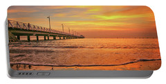 Sunrise Delight On The Beach At Shorncliffe Portable Battery Charger
