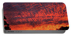 Sunrise Eruption Portable Battery Charger by Mark Blauhoefer