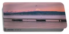 Portable Battery Charger featuring the photograph Sunrise Fog by Jan Davies