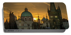 Sunrise From Charles Bridge Portable Battery Charger