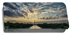 Sunrise From The Steps Of The Lincoln Memorial In Washington, Dc  Portable Battery Charger