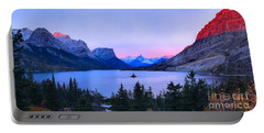 Sunrise Glow Over Wild Goose Island Portable Battery Charger