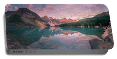 Portable Battery Charger featuring the photograph Sunrise Hour At Banff by William Lee