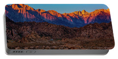 Portable Battery Charger featuring the photograph Sunrise Illuminating The Sierra by John Hight