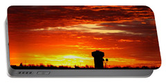 Sunrise In Fort Dodge Iowa Portable Battery Charger by Kathy M Krause