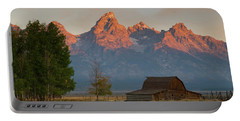 Sunrise In Jackson Hole Portable Battery Charger by Steve Stuller