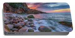 Sunrise In Monument Cove Portable Battery Charger by Rick Berk